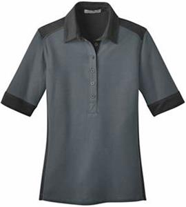 Port Authority Ladies Silk Touch Colorblock Polo