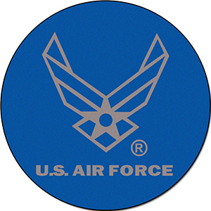 "Fan Mats United States Air Force 44"" Round Rug"