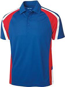 Sport-Tek Mens Tricolor Micropique Sport-Wick Polo
