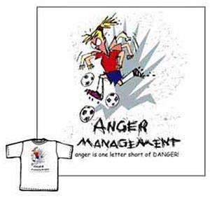Closeout- Anger Management soccer tshirt YS & AXXL