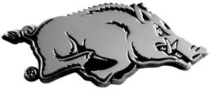 Fan Mats Univ. of Arkansas Chrome Vehicle Emblem