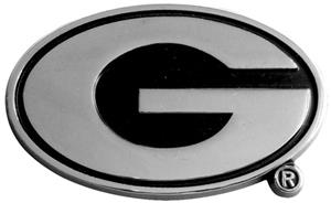 Fan Mats Univ. of Georgia Chrome Vehicle Emblem