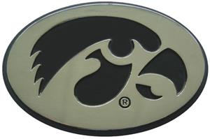 Fan Mats University of Iowa Chrome Vehicle Emblem