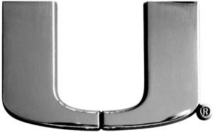 Fan Mats University of Miami Chrome Vehicle Emblem