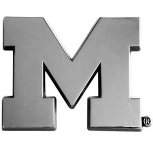 Fan Mats Univ. of Michigan Chrome Vehicle Emblem
