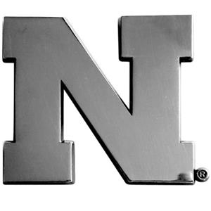 Fan Mats Univ. of Nebraska Chrome Vehicle Emblem