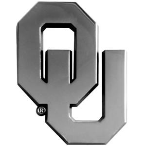 Fan Mats Univ. of Oklahoma Chrome Vehicle Emblem