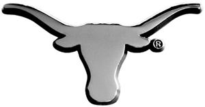 Fan Mats University of Texas Chrome Vehicle Emblem
