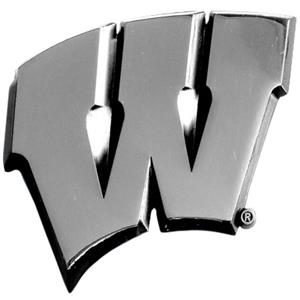 Fan Mats Univ. of Wisconsin Chrome Vehicle Emblem