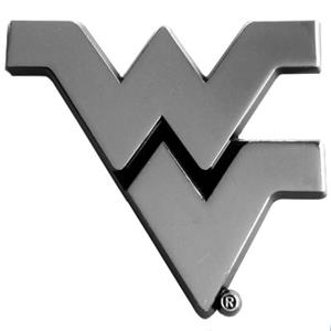 Fan Mats West Virginia Univ. Chrome Vehicle Emblem