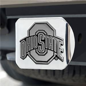 Fan Mats Ohio State University Chrome Hitch Cover