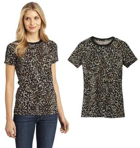 District Made Ladies' Perfect Weight Leopard Tee