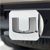Fan Mats University of Miami Chrome Hitch Cover