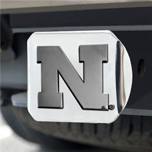 Fan Mats University of Nebraska Chrome Hitch Cover
