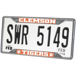 Fan Mats Clemson University License Plate Frame