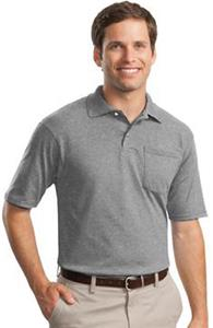 JERZEES SpotShield Jersey Knit Pocket Sport Shirt