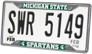 Fan Mats Michigan State Univ. License Plate Frame