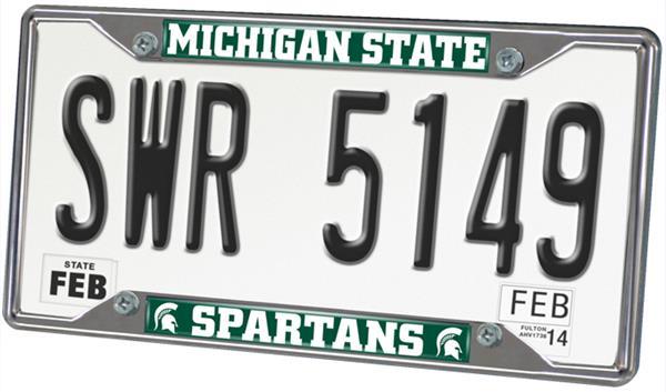 fan mats michigan state univ license plate frame - Michigan State License Plate Frame