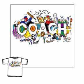 Closeout - Coach Shapes soccer tshirt gifts