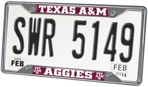 Fan Mats Texas A&M University License Plate Frame