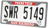Fan Mats Texas Tech University License Plate Frame