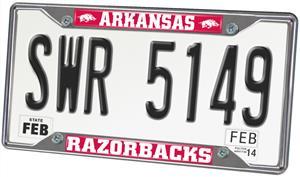 Fan Mats Univ. of Arkansas License Plate Frame