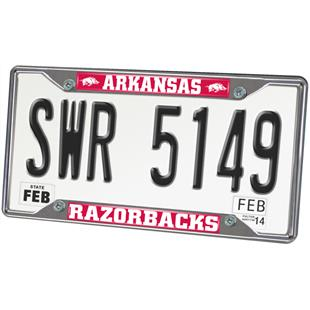 Fan Mats Univ. of Arkansas License Plate Frame