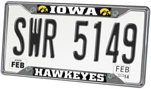Fan Mats University of Iowa License Plate Frame