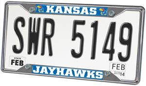 Fan Mats University of Kansas License Plate Frame