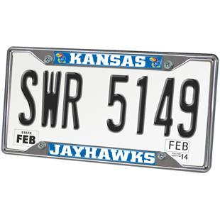 Fan Mats University of Kansas License Plate Frame
