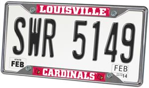 Fan Mats Univ. of Louisville License Plate Frame