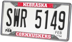 Fan Mats Univ. of Nebraska License Plate Frame