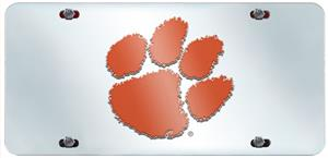Fan Mats Clemson University License Plate Inlaid