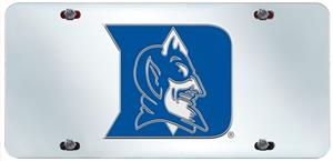 Fan Mats Duke University License Plate Inlaid