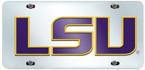 Fan Mats Louisiana State Univ License Plate Inlaid