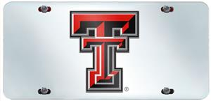 Fan Mats Texas Tech Univ. License Plate Inlaid