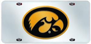Fan Mats University of Iowa License Plate Inlaid