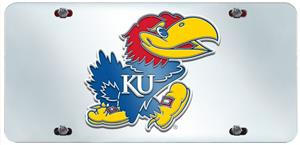 Fan Mats University of Kansas License Plate Inlaid