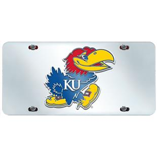 Fan Mats University of Kansas License Plate Inlaid