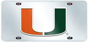 Fan Mats University of Miami License Plate Inlaid