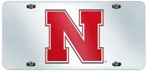 Fan Mats Univ. of Nebraska License Plate Inlaid