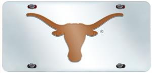 Fan Mats University of Texas License Plate Inlaid
