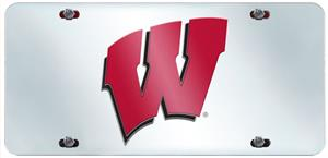Fan Mats Univ. of Wisconsin License Plate Inlaid