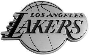 Fan Mats Los Angeles Lakers Chrome Vehicle Emblem