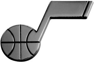 Fan Mats Utah Jazz Chrome Vehicle Emblem