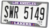 Fan Mats Los Angeles Lakers License Plate Frame