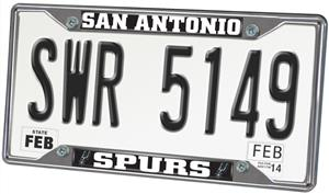 Fan Mats San Antonio Spurs License Plate Frame