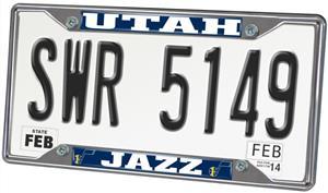 Fan Mats Utah Jazz License Plate Frame