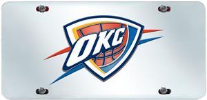 Oklahoma City Thunder License Plate Inlaid