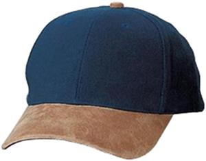 Two-Tone Brushed Twill Cap with Suede Visor